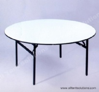 1.8m Plywood Round Table for 10 People