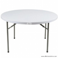 Foldable Plastic Table in White Color