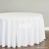 Quality White Table Cover for Round Table